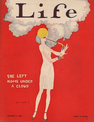 ORIG. VINTAGE MAGAZINE COVER/ LIFE - OCTOBER 1 1925Held, Jr. (Illust.), John, Illust. by: John   Held, Jr. - Product Image