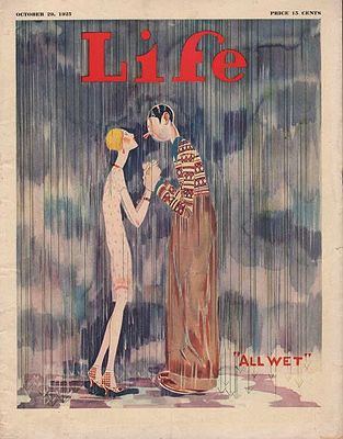 ORIG. VINTAGE MAGAZINE COVER/ LIFE - OCTOBER 29 1925Held, Jr. Illust.), John, Illust. by: John  Held, Jr. - Product Image
