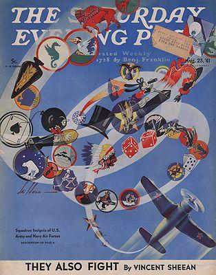 ORIG. VINTAGE MAGAZINE COVER/ SATURDAY EVENING POST - AUGUST 23 1941Weld (Illust.), Ski, Illust. by: Ski  Weld - Product Image