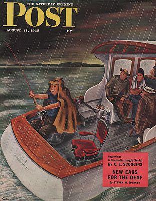 ORIG. VINTAGE MAGAZINE COVER - SATURDAY EVENING POST - AUGUST 31 1946Alajalov (Illust.), Constantin, Illust. by: Constantin  Alajalov - Product Image