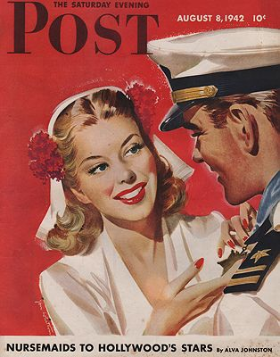 ORIG. VINTAGE MAGAZINE COVER - SATURDAY EVENING POST - AUGUST 8 1942Whitcomb (Illust.), Jon, Illust. by: Jon  Whitcomb - Product Image