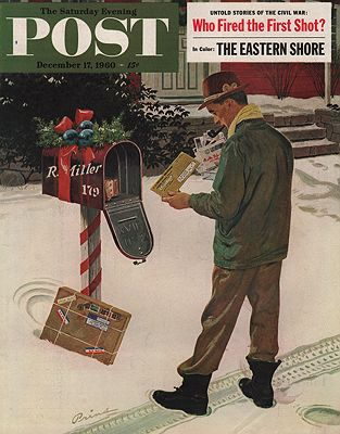ORIG. VINTAGE MAGAZINE COVER - SATURDAY EVENING POST - DECEMBER 17 1960Prins (Illust.), Ben, Illust. by: Ben  Prins - Product Image
