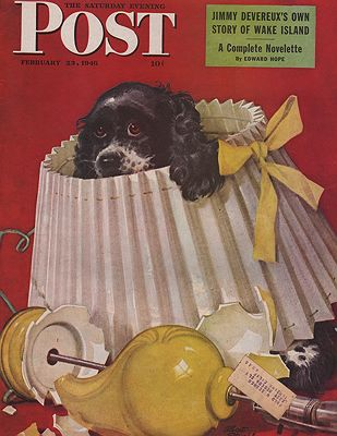 ORIG. VINTAGE MAGAZINE COVER - SATURDAY EVENING POST - FEBRUARY 23 1946Staehle (Illust.), Albert, Illust. by: Albert  Staehle - Product Image