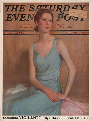 ORIG. VINTAGE MAGAZINE COVER - SATURDAY EVENING POST - FEBRUARY 4 1933Dennis (Illust.), Chas. W., Illust. by: Chas. W.  Dennis - Product Image