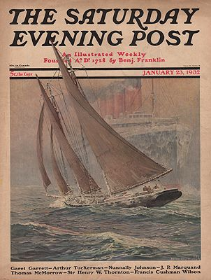 ORIG. VINTAGE MAGAZINE COVER/ SATURDAY EVENING POST - JANUARY 23 1932Fischer (Illust.), Anton Otto, Illust. by: Anton Otto  Fischer - Product Image