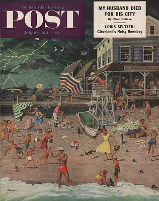 ORIG. VINTAGE MAGAZINE COVER - SATURDAY EVENING POST - JULY 10 1954Prins (Illust.), Ben, Illust. by: Ben  Prins - Product Image