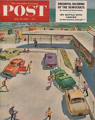 ORIG. VINTAGE MAGAZINE COVER - SATURDAY EVENING POST - JULY 23 1955Utz (Illust.), Thornton, Illust. by: Thornton  Utz - Product Image