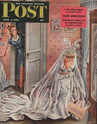 ORIG. VINTAGE MAGAZINE COVER - SATURDAY EVENING POST - JUNE 1 1946Alajalov (Illust.), Constantin, Illust. by: Constantin  Alajalov - Product Image
