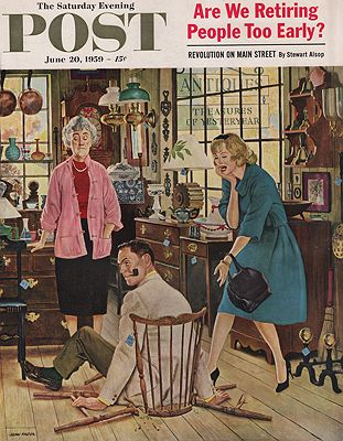 ORIG. VINTAGE MAGAZINE COVER/ SATURDAY EVENING POST - JUNE 20 1959Falter (Illust.), John, Illust. by: John  Falter - Product Image