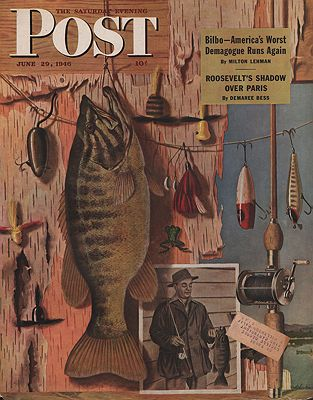 ORIG. VINTAGE MAGAZINE COVER - SATURDAY EVENING POST -JUNE 29 1946Atherton (Illust.), John, Illust. by: John  Atherton - Product Image
