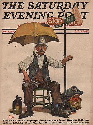 ORIG. VINTAGE MAGAZINE COVER - SATURDAY EVENING POST - JUNE 5 1926Foster (Illust.), Alan, Illust. by: Alan  Foster - Product Image