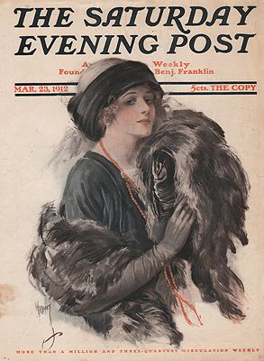 ORIG. VINTAGE MAGAZINE COVER/ SATURDAY EVENING POST - MARCH 23 1912Williams (Illust.), C.D., Illust. by: C.D.  Williams - Product Image
