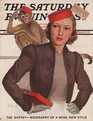 ORIG. VINTAGE MAGAZINE COVER - SATURDAY EVENING POST - MARCH 26 1938McMein (Illust.), Neysa, Illust. by: Neysa  McMein - Product Image