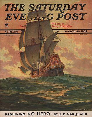 ORIG. VINTAGE MAGAZINE COVER/ SATURDAY EVENING POST - MARCH 30 1935Fischer (Illust.), Anton Otto, Illust. by: Anton Otto  Fischer - Product Image