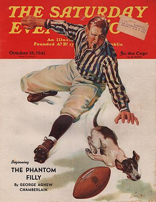 ORIG. VINTAGE MAGAZINE COVER/ SATURDAY EVENING POST - OCTOBER 18 1941Bee (Illust.), Lonie, Illust. by: Lonie  Bee - Product Image