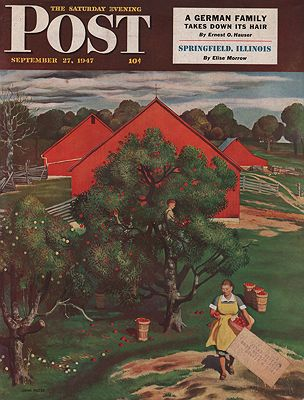 ORIG. VINTAGE MAGAZINE COVER/ SATURDAY EVENING POST - SEPTEMBER 27 1947Falter (Illust.), John, Illust. by: John  Falter - Product Image
