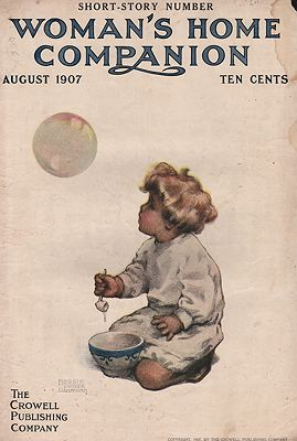 ORIG. VINTAGE MAGAZINE COVER/ WOMAN'S HOME COMPANION - AUGUST 1907Gutmann (Illust.), Bessie Pease, Illust. by: Bessie Pease  Gutmann - Product Image