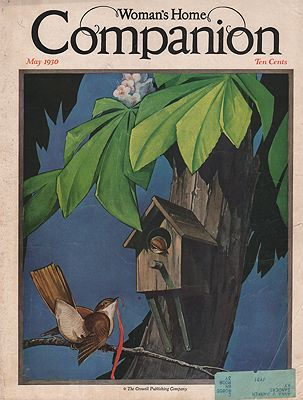 ORIG. VINTAGE MAGAZINE COVER - WOMAN'S HOME COMPANION - MAY 1930Carroll (Illust.), L.V., Illust. by: L. V.  Carroll - Product Image