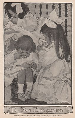 ORIG. VINTAGE MAGAZINE ILLUSTRATION - THE FIRST DISSIPATIONSmith (Illust.), Jessie Wilcox, Illust. by: Jessie Wilcox  Smith - Product Image