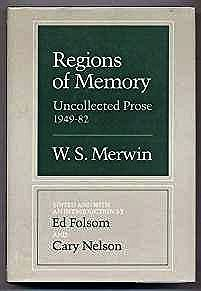 REGIONS OF MEMORYMerwin, W S - Product Image