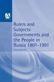 Rulers & Subjects: Government and People in Russia 1801-1991Gooding, John - Product Image