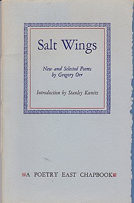 Salt Wings: New and Selected Poems (SIGNED LTD. EDITION)Orr, Gregory And Stanley Kunitz  - Product Image