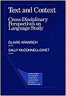 Text and Context: Cross-Disciplinary Perspectives on LanguageKramsch, Claire - Product Image