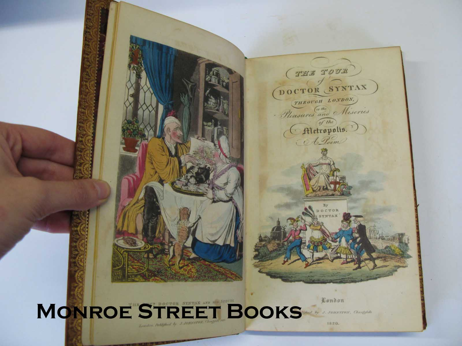 Tour of Doctor Syntax through London of the Pleasures and Miseries of the Metropolis - A PoemSyntax, Doctor, Illust. by: Rowlandson and Cruikshank - Product Image