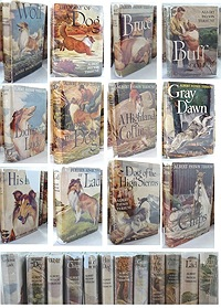 Twelve Assorted Dog Books: Lochinvar Luck, Further Adventures of Lad, A Dog Named Chips, Bruce, The Way of a Dog, Wolf, His Dog, A Highland Collie, Dog of the High Sierras, Buff a Collie, Gray Dawn, My Friend the DogTerhune, Albert - Product Image