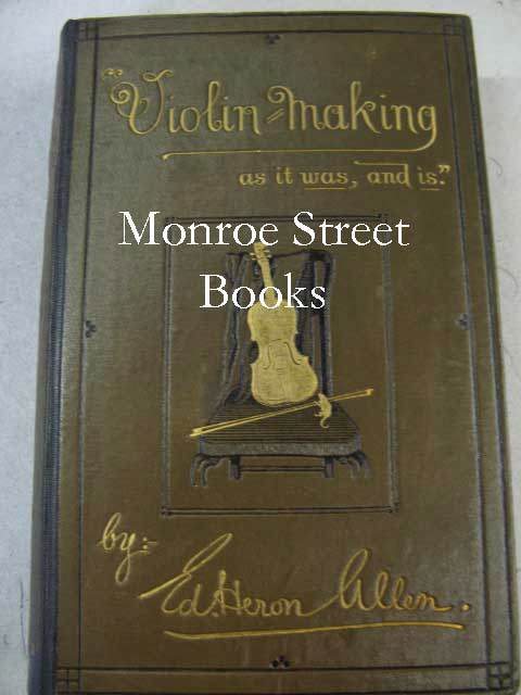 Violin-Making: as it was, and isHeron-Allen (ed.) - Product Image