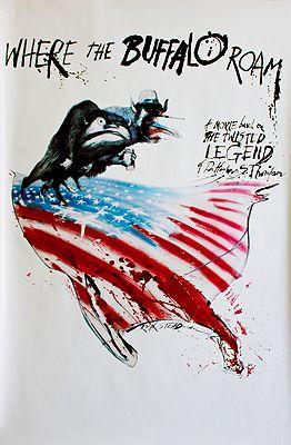 Where the Buffalo Roam (MOVIE POSTER)Steadman, Ralph, Illust. by: Ralph  Steadman - Product Image